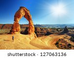 beautiful arches national  park | Shutterstock . vector #127063136