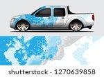 truck decal graphic wrap vector ...   Shutterstock .eps vector #1270639858