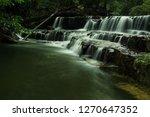 landscape photo view waterfall... | Shutterstock . vector #1270647352