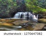 landscape photo view waterfall... | Shutterstock . vector #1270647382