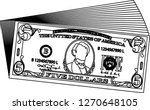 bunch of 5 us dollar banknote...   Shutterstock .eps vector #1270648105