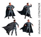 grey color super hero set | Shutterstock .eps vector #1270659628