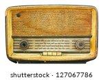 radio retro isolate on white | Shutterstock . vector #127067786