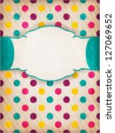 invitation  anniversary card... | Shutterstock .eps vector #127069652