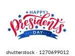 happy presidents day with stars ... | Shutterstock .eps vector #1270699012