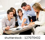 group of business people at the ... | Shutterstock . vector #127070432