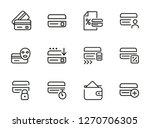 homebanking line icon set. set... | Shutterstock .eps vector #1270706305