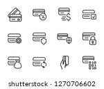 debit cards line icon set. set... | Shutterstock .eps vector #1270706602