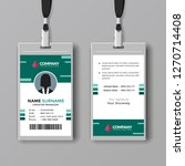 creative identity card design... | Shutterstock .eps vector #1270714408