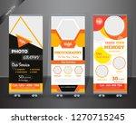 roll up design set. standee... | Shutterstock .eps vector #1270715245