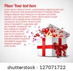 valentine s day gift box  ... | Shutterstock .eps vector #127071722