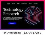 technology theme web site... | Shutterstock .eps vector #1270717252