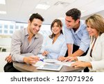 business people working as a... | Shutterstock . vector #127071926