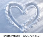 hand drawn heart shape on fresh ... | Shutterstock . vector #1270724512