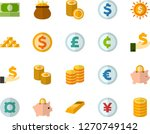 color flat icon set  ... | Shutterstock .eps vector #1270749142