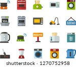 color flat icon set   rent a... | Shutterstock .eps vector #1270752958
