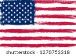 grunge american flag.old dirty... | Shutterstock .eps vector #1270753318