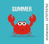 hand drawing crab illustration  ... | Shutterstock .eps vector #1270753762
