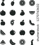 solid black vector icon set  ... | Shutterstock .eps vector #1270763632