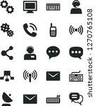 solid black vector icon set  ... | Shutterstock .eps vector #1270765108