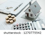 house model with real estate... | Shutterstock . vector #1270775542