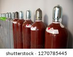 steel industrial gas cylinders. ... | Shutterstock . vector #1270785445