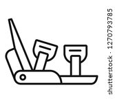 mountain shoe spike icon....   Shutterstock . vector #1270793785