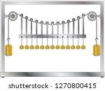 suspension bridge apparatus    Shutterstock .eps vector #1270800415