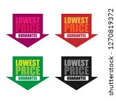 lowest price guarantee sticker... | Shutterstock .eps vector #1270819372