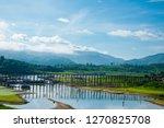 song kali river with mon bridge ...   Shutterstock . vector #1270825708