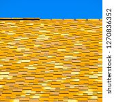roof from multi colored... | Shutterstock . vector #1270836352
