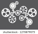 cogwheels gears connected... | Shutterstock .eps vector #1270879075