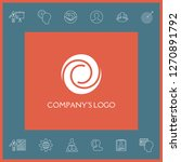 logotype   two spirals in a... | Shutterstock .eps vector #1270891792