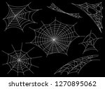 collection of cobweb  isolated... | Shutterstock .eps vector #1270895062