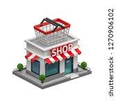 3d illustration of shop | Shutterstock . vector #1270906102