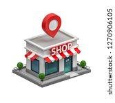 3d illustration of shop | Shutterstock . vector #1270906105