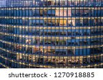 skyscraper office windows and... | Shutterstock . vector #1270918885