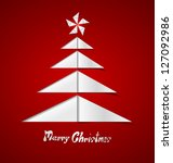 merry christmas card with a... | Shutterstock .eps vector #127092986
