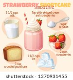 strawberry shortcake smoothie... | Shutterstock .eps vector #1270931455