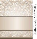 elegant vintage card | Shutterstock . vector #127093325