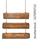 close up of an empty wooden... | Shutterstock . vector #127093712