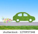 green eco friendly car concept... | Shutterstock . vector #1270957348