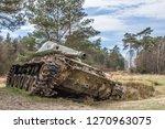 Abandoned ww tanks in Brander Wald, Eifel, Germany