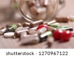 medical pills and tablets | Shutterstock . vector #1270967122