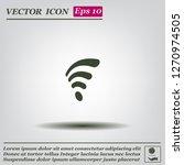 wi fi  web icon. vector design | Shutterstock .eps vector #1270974505