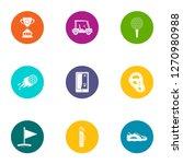 threat reward icons set. flat... | Shutterstock . vector #1270980988