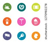 ale icons set. flat set of 9... | Shutterstock . vector #1270982278