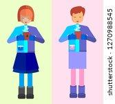 girl. fashionable girl in...   Shutterstock .eps vector #1270988545