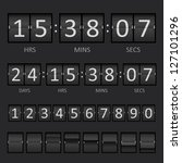 vector countdown timer and... | Shutterstock .eps vector #127101296