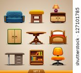 furniture icons set 2 | Shutterstock .eps vector #127101785